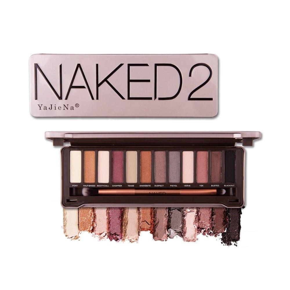 Nk 2 3 5 ombretto Pallete Balsamo Per Le Labbra Glitter Tavolozze Fronte di Trucco Cosmetico Naturale Opaco Regalo Pro Nude 12 Colore Versare fard