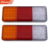Pair Of 12V Trailer Truck 75 LEDs Waterproof Rear Tail Signal Light