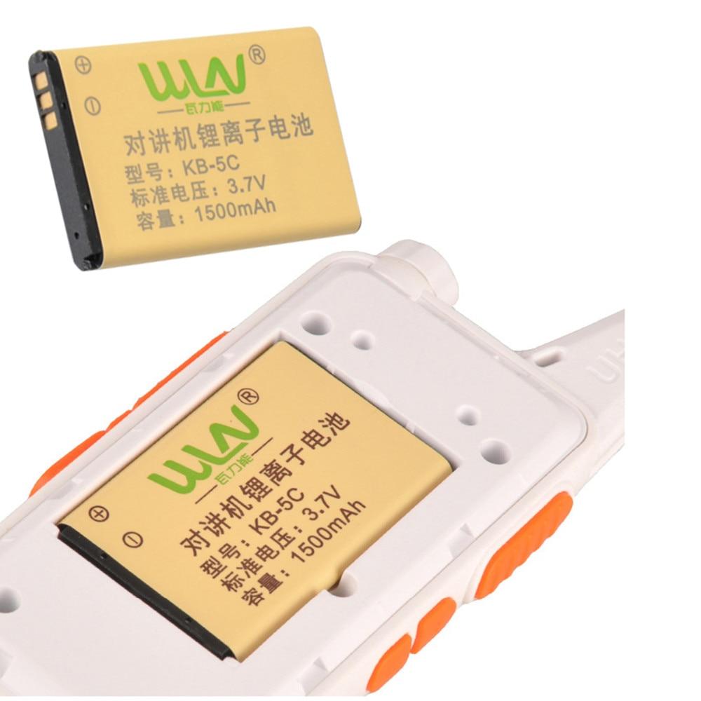 2 pcs NEW Original Talkie Walkie Li-ion Radio Batterie 3.7 V 1500 mAh pour Radio Talkie Walkie RFD KD-C1 Deux Way Radio