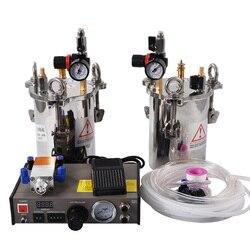 Z 2 sztuk 5L zbiorniki ciśnieniowe AB klej maszyna do napełniania MY-2000 dozownik kleju sprzęt dokładne automatyczne maszyna wydająca klej