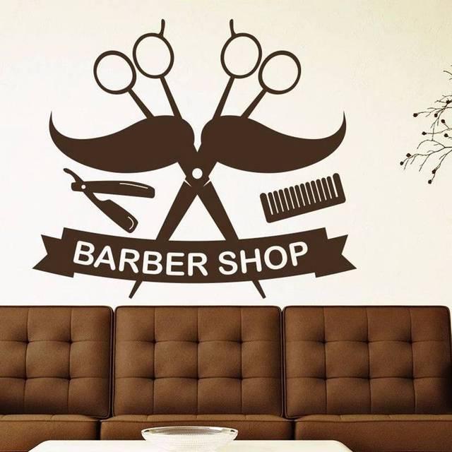 Dctal man razor shavers barber shop sticker chop bread decal haircut posters vinyl wall art decals