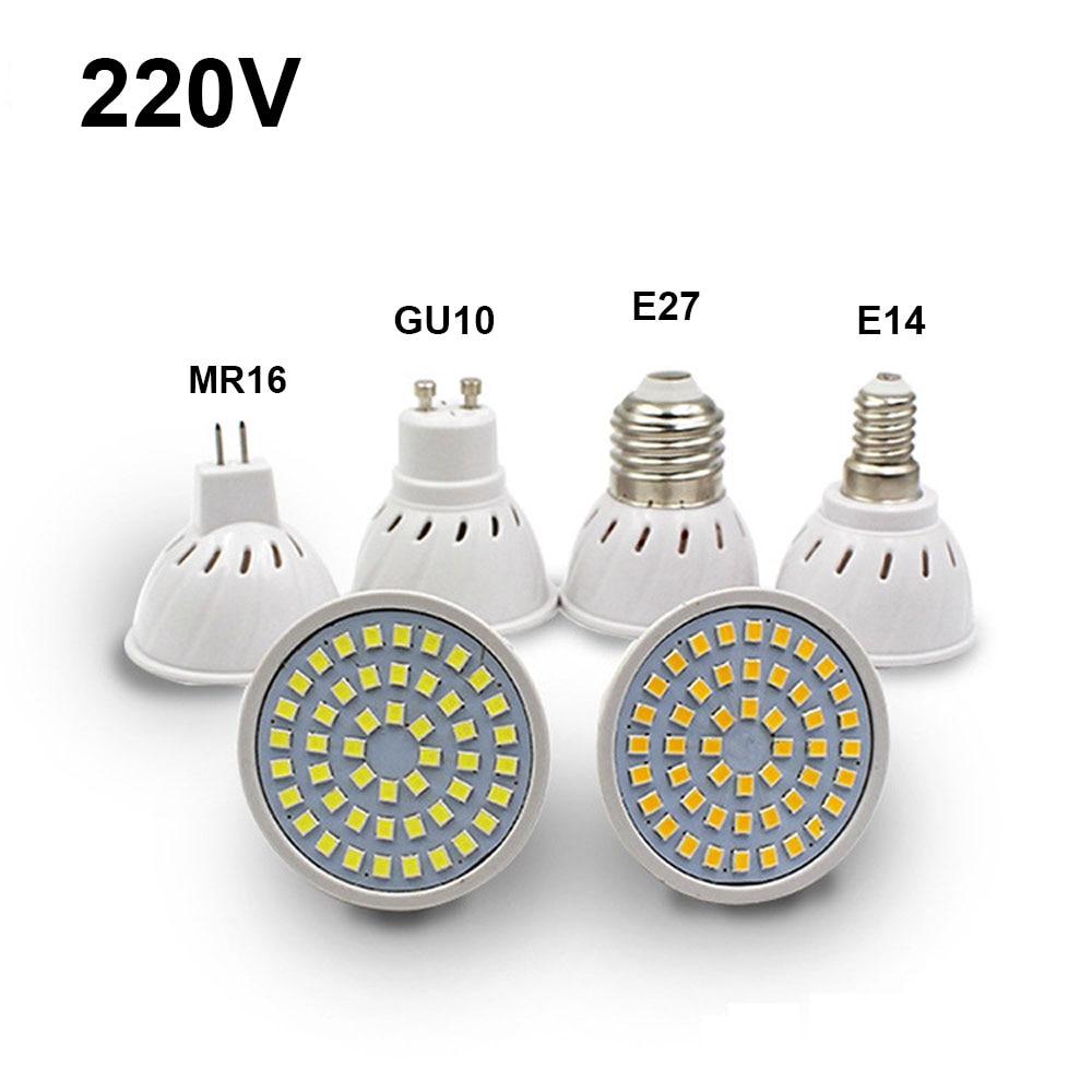 E27 LED Bulb GU10 LED Lamp 220V SMD 2835 Warm White Cold White Lights for Home Decoration LED Light gcd m5 gu10 5w 220lm 2500k 46 x smd 2835 led warm white light car lamp ac 220 240v