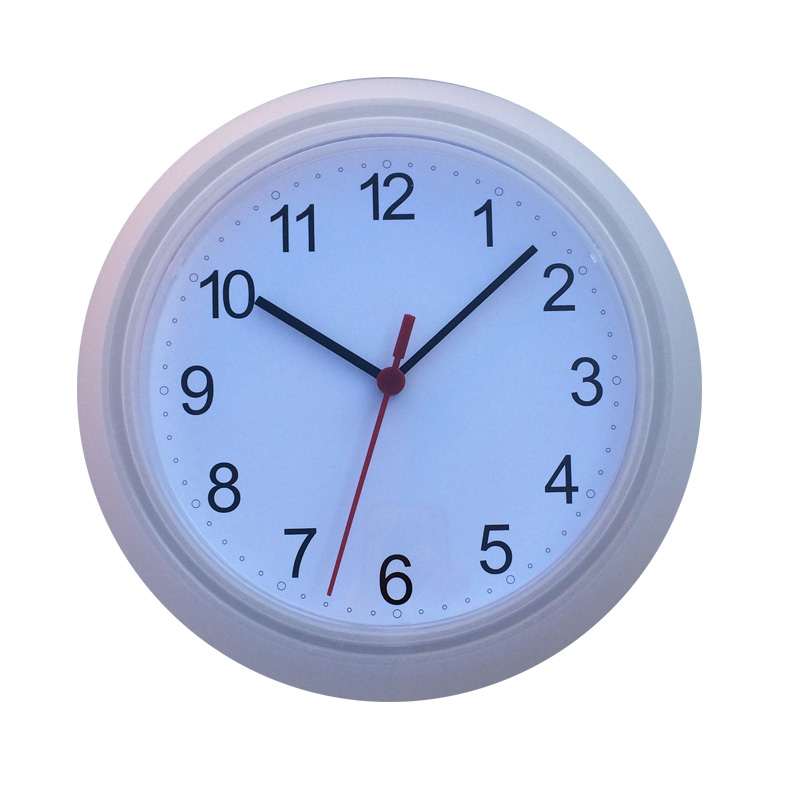 10Inch Plastic Wall Clocks Big Round Hanging Time In Home Analog Quartz Wall Watches White Simple Clear Beautiful Watch
