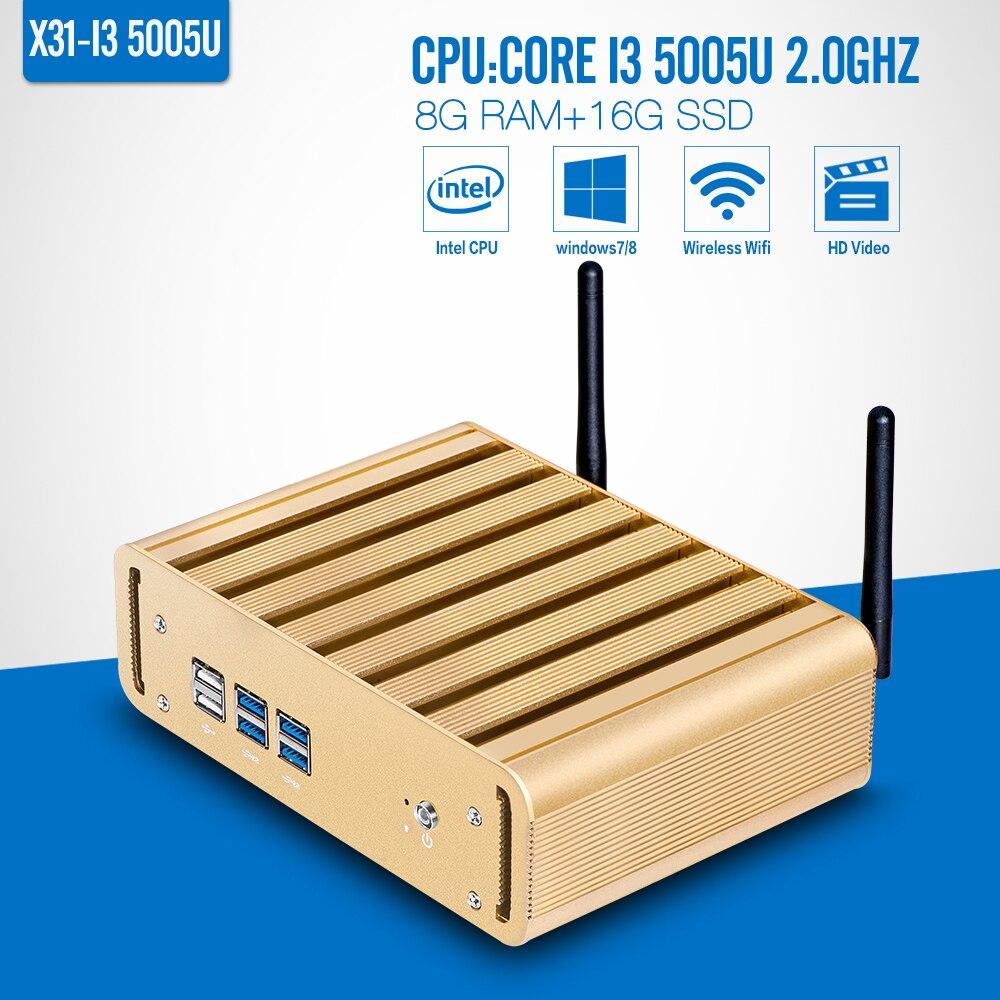 Nuevo Mini Ordenador de Escritorio 5005U Core i3 8G RAM 16G SSD Sin Ventilador W