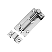 Stainless steel latch door buckle wooden and window anti-theft lock bathroom thickened wall mounted