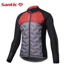 Santic 2019 New Winter Cycling Jackets Keep Warm Long-Sleeved Jersey Men Chubasquero Ciclismo Windproof Light Bike Clothing cheap Polyester Anti-sweat Breathable MANDARIN COLLAR Fits true to size take your normal size Broadcloth M8C01095