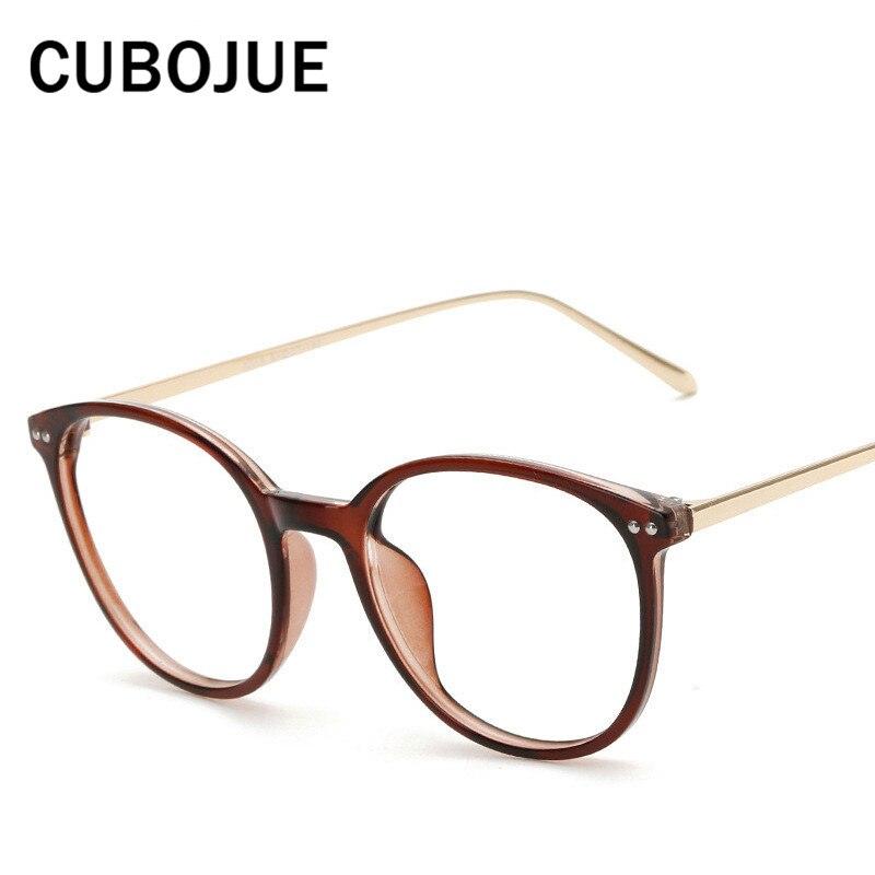 Cubojue Große Brillen Frauen Männer Vintage Runde Brillenge Brillen ...