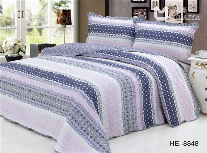 Trade boutique plain weave cotton quilting craft printing three-piece bedding was washedTrade boutique plain weave cotton quilting craft printing three-piece bedding was washed