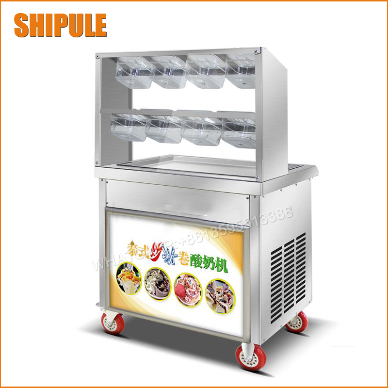 60*40cm Square Pan Fried Ice Cream machine;Fry Ice Cream Roll Maker For Yogurt with Intelligent temperature control 2017 single pan fried ice cream roll machine economical model square pan fried ice machine fry yoghourt machine