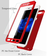 Купить с кэшбэком WeeYRN 360 Full Protection Cover Xiaomi mi A1 A2 5 5S 6 Luxury Hard Plastic Matte Case Xiaomi mi 5X 6X Funda + Tempered Glass