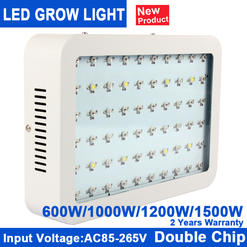 1Pcs KINDOMLED 600W 1000W 1200W 1500W Double Chip LED Grow Light Full Spectrum Red/Blue/White/UV/IR For Indoor Plant and Flower new 8 band 50w 100w 50 2w grow light led chip full spectrum led red blue uv ir white for indoor plant seeding growing flower