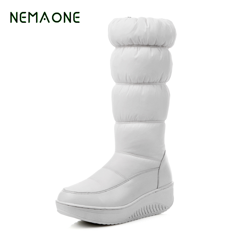 NEMAONE 2017 hot sale new arrive women boots fashion solid color ladies boots simple comfortable autumn winter knee high boots mulinsen new arrive 2017 autumn winter men