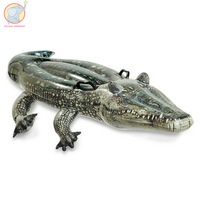Giant Inflatable Crocodile Pseudo crocodile Pool Float swimming circle Air Mattress water toys for child adult kids beach party