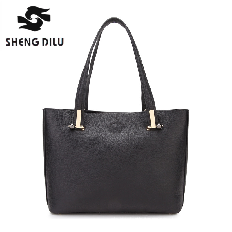 SHENGDILU Brand 2018 women 100% genuine leather shoulder bag free ShippingEurope fashion bolsa feminina High-end handbag shengdilu brand genuine leather handbag 2018 new women tote crocodile shoulder messenger bag bolsa feminina free shipping