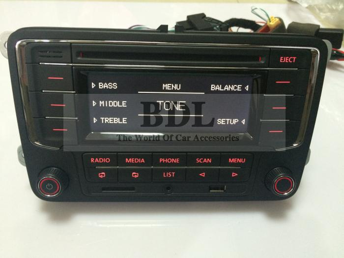 Russian Free Shipping VW font b Car b font Radio RCN210 CD MP3 USB SD AUX