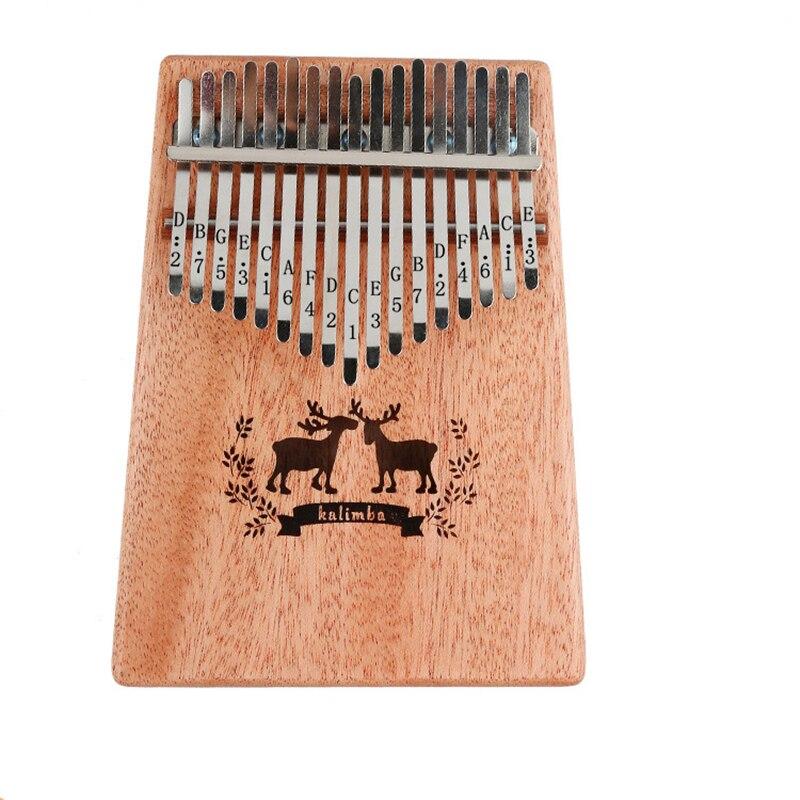 17 клавиш калимба Африканский игрушечное пианино Finger перкуссия Natural Keyboard Музык ...