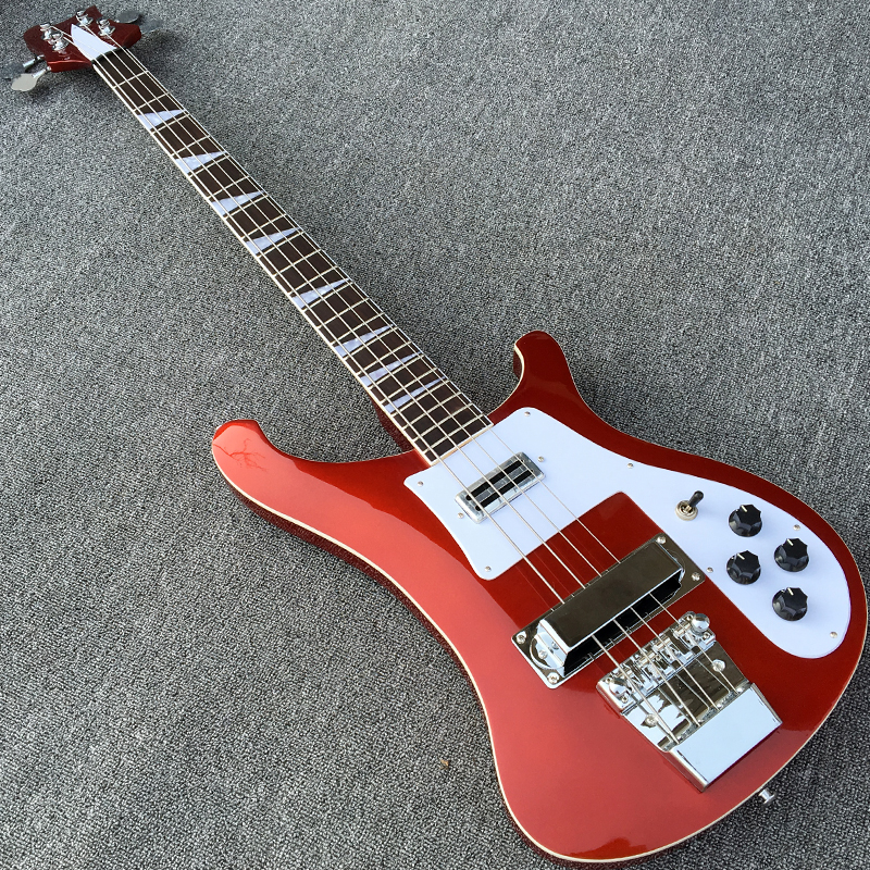 Metallic Red Electric Bass guitar High quality 4 strings Bass Guitarra All Color are available Wholesale