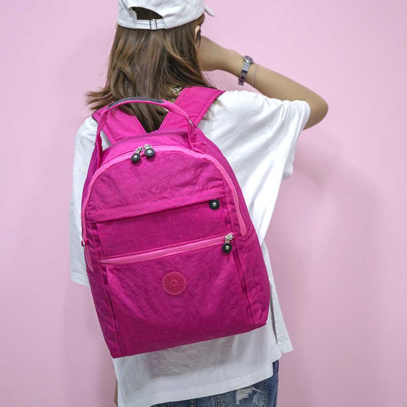 5 יח'\סט מזדמן עיצוב מפורסם מותג נשים תרמילי בית ספר שקיות עבור בני נוער בנות עם קוף Keychain