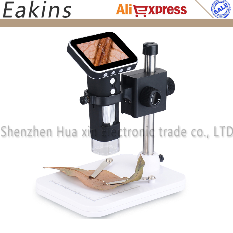 Portable 500X USB Digital Mobile Microscope 3MP HD 720p Camera 3.5 inch LCD Screen USB and 8LED for PC and TF Card Recorder все цены