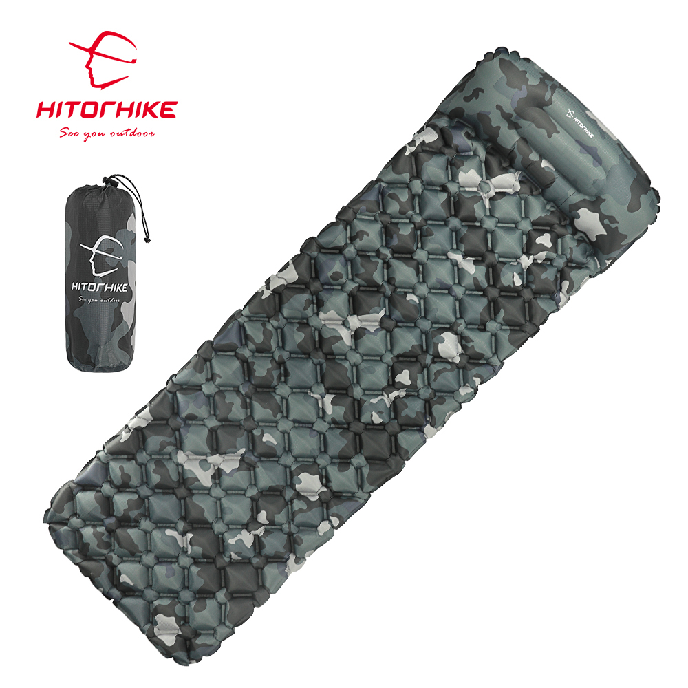 Hitorhike Sleeping Pad Inflatable mattress Cushion Sleeping Bag Mat Fast Filling Air Moistureproof Camping beach Mat With PillowHitorhike Sleeping Pad Inflatable mattress Cushion Sleeping Bag Mat Fast Filling Air Moistureproof Camping beach Mat With Pillow