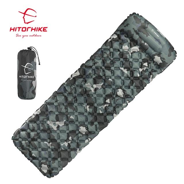 Hitorhike Sleeping Pad Inflatable mattress Cushion Sleeping Bag Mat Fast Filling Air Moistureproof Camping beach Mat With Pillow
