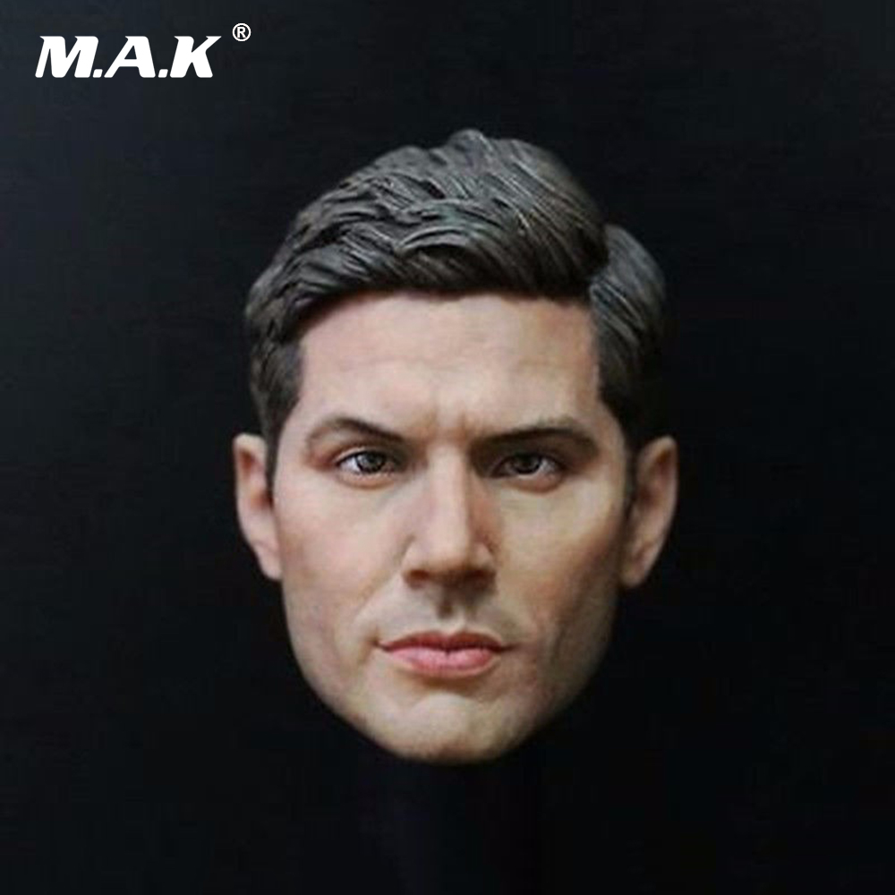 1:6 Supernatural Dean Winchester Jensen Ackles Male Head Sculpt For 12 Action Figure Body Toys