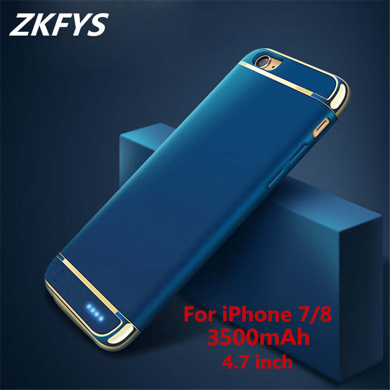 ZKFYS 3500mAh Ultra Thin Fast Charger Battery Cover For iPhone 7 8 Power Bank Charging Case