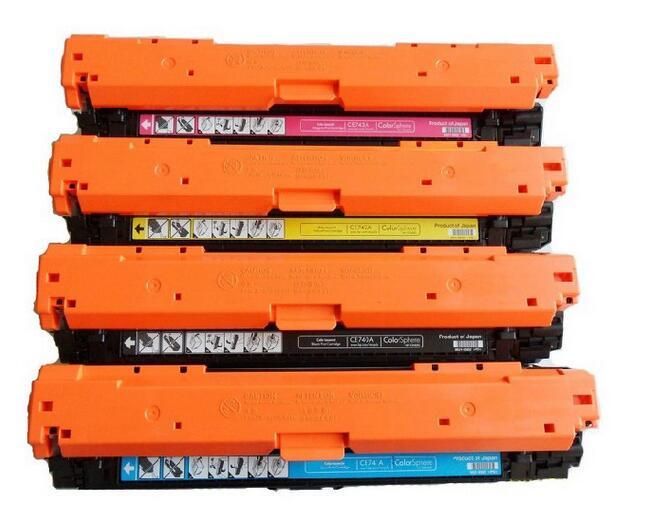 FACILE Recharge 4 pcs 650A CE270A CE271A CE272A CE273A Cartouche De Toner Compatible pour HP Color LaserJet Enterprise CP5525, CP5525dn