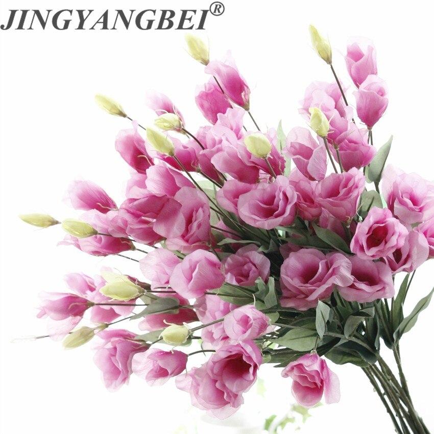 Свадебный букет цветов 7 голов Эустома Lisianthus шелковые искусственные цветы украшение для дома искусственный цветок|Искусственные и сухие цветы|   | АлиЭкспресс