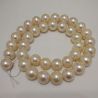 16 inches 11 12mm AA+ High Luster White Round Fresh Water Pearl Loose Strand