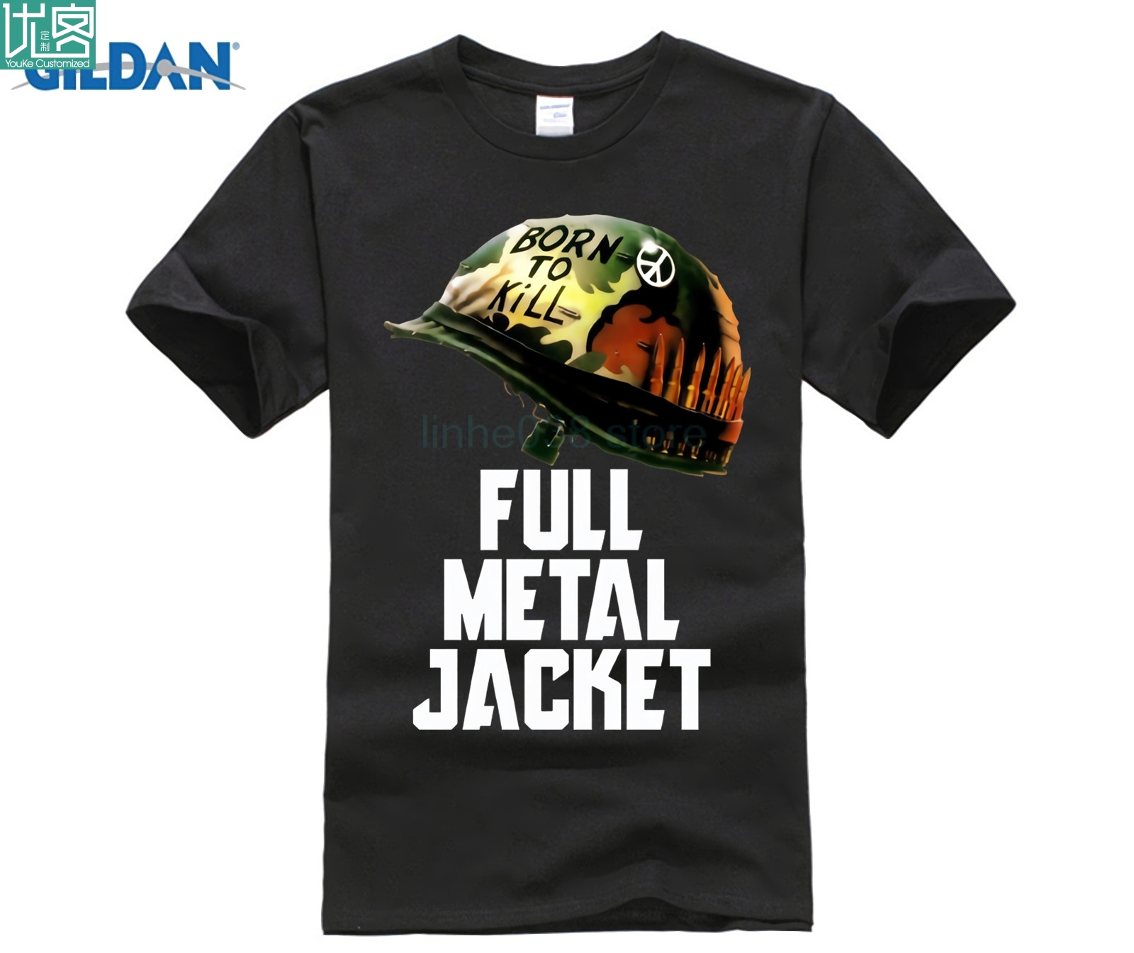 MEN T SHIRT FULL METAL JACKET BORN TO KILL Men 39 s Tshirts VINTAGE MOVIE Cotton Tees size S XXXL in T Shirts from Men 39 s Clothing