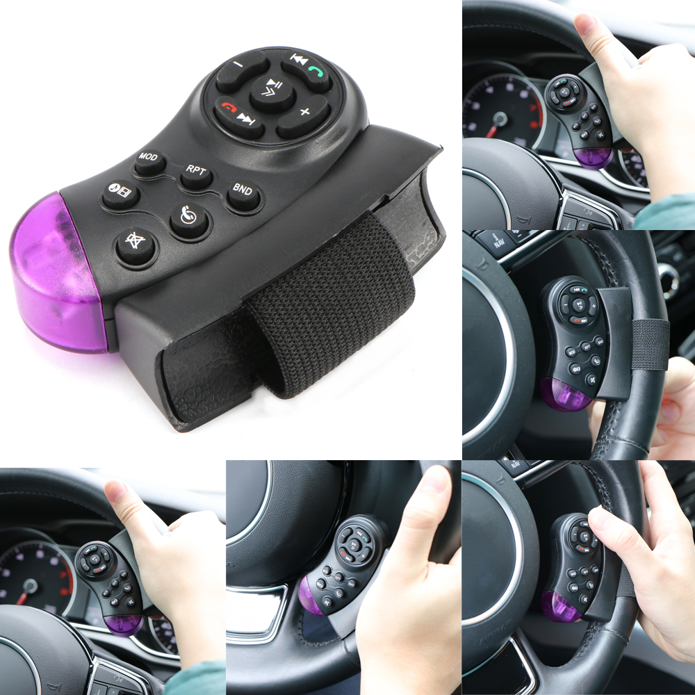 Universal Car Wireless Steering Wheel Button Remote Control Bluetooth Media