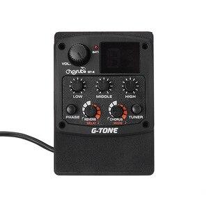 Image 5 - Cherub GT 6 guitarra acústica preamp piezo captador 3 band eq equalizador lcd sintonizador com reverb/atraso/coro/largo