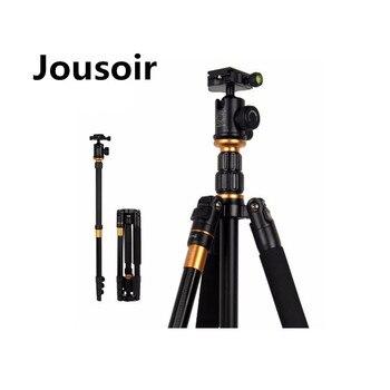 Trípode fotográfico profesional portátil QZSD-570 monopié y cabezal de bola para cámara Digital/cámara de viaje compacto CD50