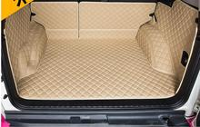 Auto Reise Marke Spezielle kofferraum-matten und Hinten tür matte für Toyota Land Cruiser Prado 150 5 sitze 2016-2010 wasserdicht boot teppiche