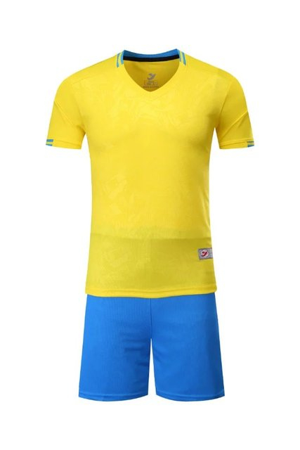 2017 yellow Boys Kids Training T-shirts children sets runing football kits soccer team jersey Sports Athletic wear polo shirt
