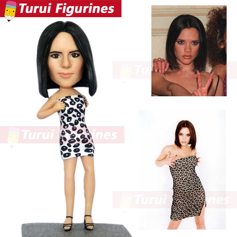 custom bobblehead figurines personalized man with two dogs mini statuette custom polymer clay figurine dolls bobble head