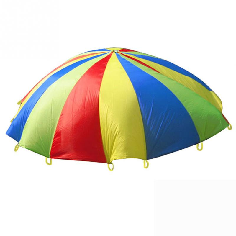 Nylon Cloth Rainbow Parachute Boys Girls Children's Games Kindergarten Parent-child Activities Early Education Pull Parachute