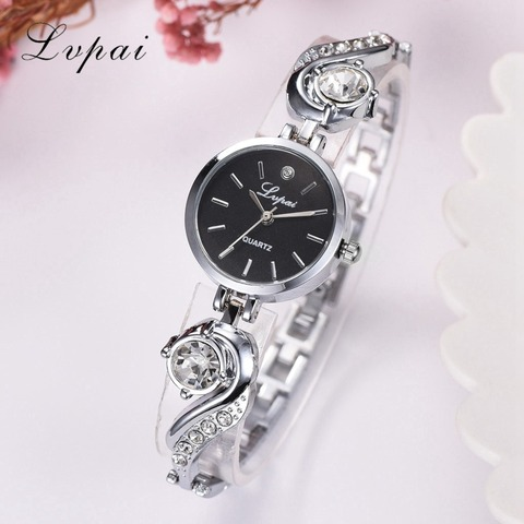 Lvpai Brand Luxury Rhinestone Watches Women Quartz Bracelet Watches Ladies Dress New Fashion Rose Gold Clock relogios kol saati Multan