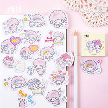 40pcs/pack Pinky Doll Totem Calendar Stickers Pack Posted It Kawaii Planner Scrapbooking Washi Tape Office Adhesive Tape(China)