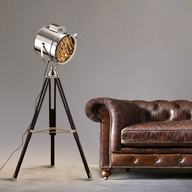 Aliexpress.com : Buy Retro Floor lamp Stainless steel tripod ...