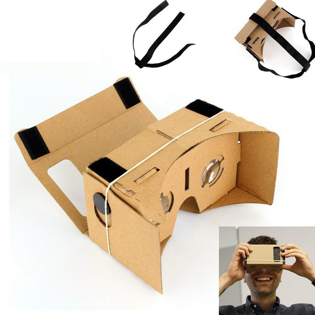 a11db7b77 الواقع الافتراضي VR نظارات جوجل جوجل كرتون 3D نظارات للهاتف المحمول 5.0  شاشة + قابل للتعديل