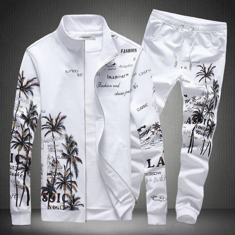 SHANBAO brand clothing men s casual sportswear black white Pant jacket 16135