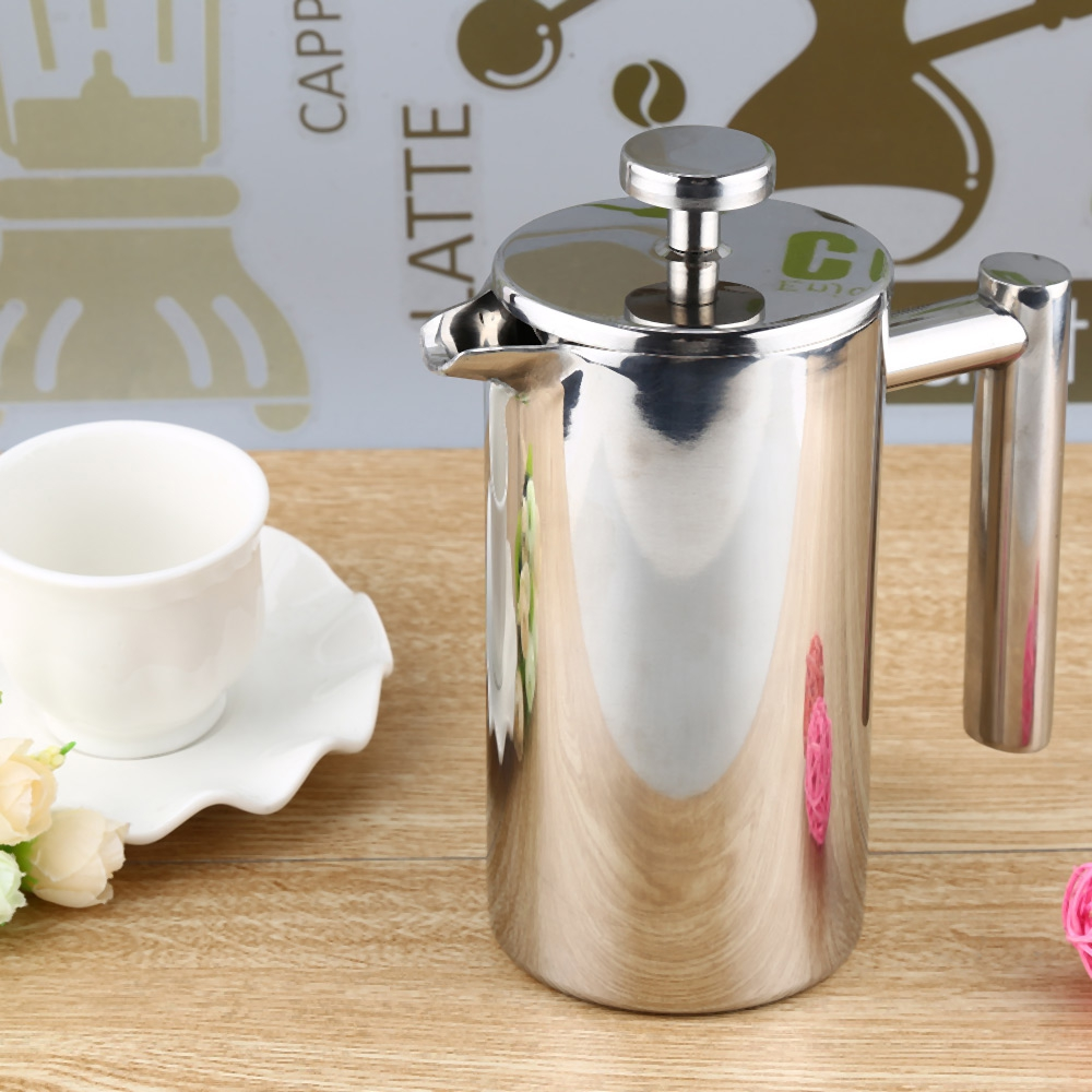 FIMEI 350/1000ML Espresso Coffee Maker Pot Practical Stainless Steel Cafetiere Double Wall Insulated Tea Coffee Maker Filter стоимость