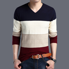 Original Brand Sweater 2017 The New Fall Winter Men Sweater Pullover Men Stripe Men's Casual Slim Sweater