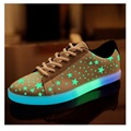 Fashion Multicoloure Led shoes Lights Luminous Glowing Comfortable Casual shoes light Spring Summer Autumn Retro Breathable Star