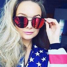 MADELINY Diseñador de la Marca de Ojo de Gato gafas de Sol de Espejo de La Moda Gafas de sol Gafas De Sol Feminino MA223