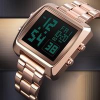 Digital Watch Men Gold Waterproof Stainless Steel Strap Countdown Mens Watches Top Brand Luxury Calendar Wristwatch Clock Men