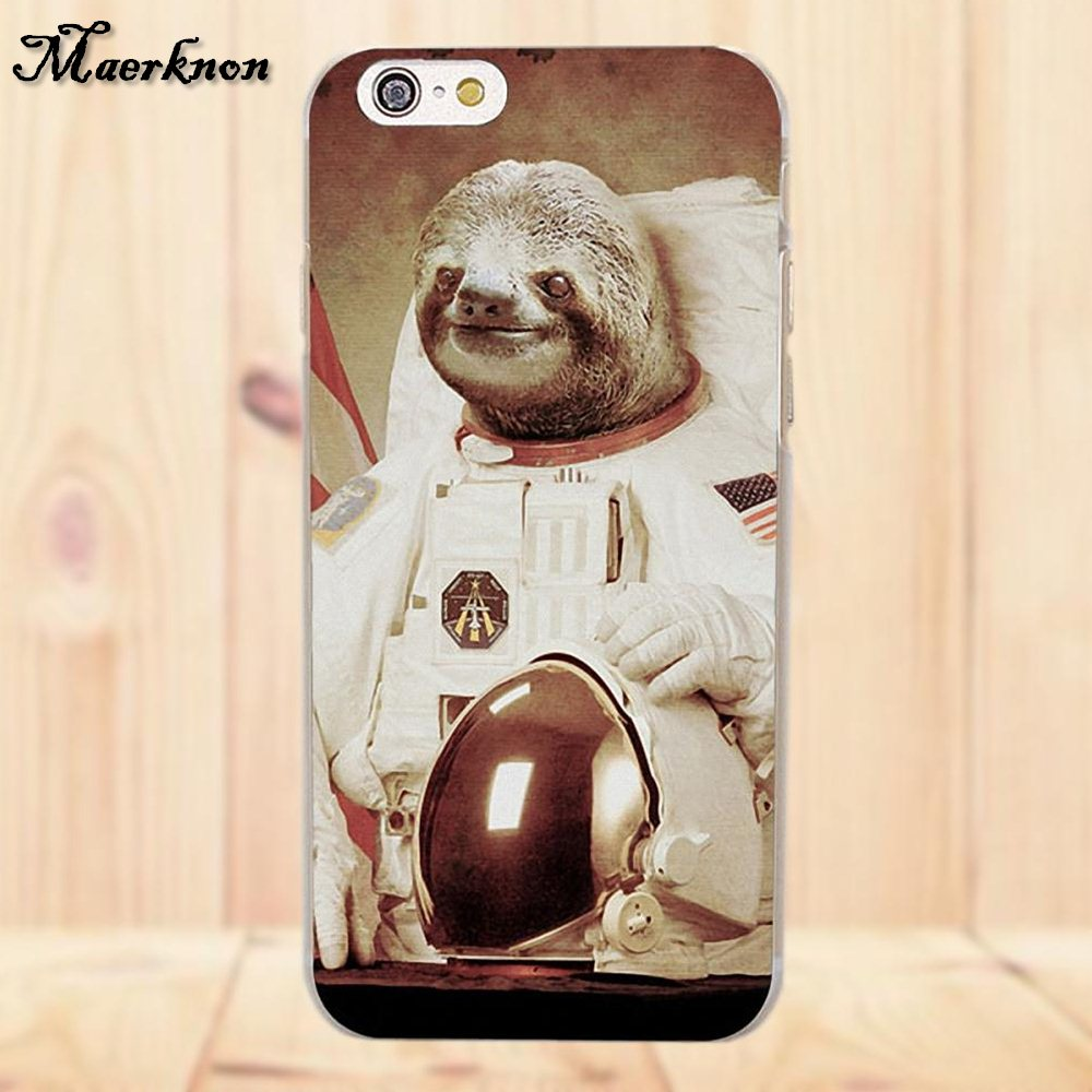 sloth astronaut phone case - 1000×1000