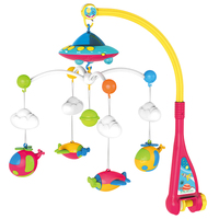 Cute Educational Toy Music Box Holder Toy Baby Mobile Infant Educational With Projector Bell Rotate DIY Stroller Home